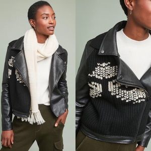 NWT ETT:TWA ANTHROPOLOGIE SWEATER MOTO JACKET